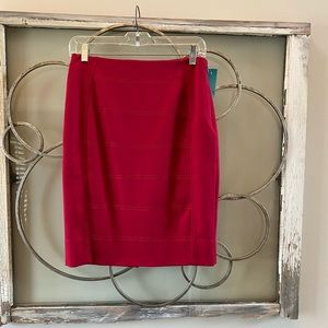 WHBM Red, Lined Skirt. Sz 2